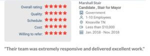 Clutch 5-Star Review from Marshall Stair