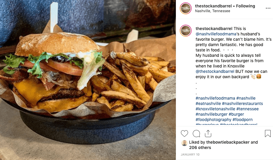 burger instagram